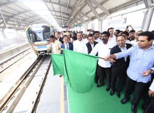 KTR flags off Hyderabad Metro rail services from Hi-Tech city to Raidurg