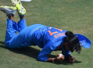 Harmanpreet Kaur takes an absolute blinder against the Windies in Antigua