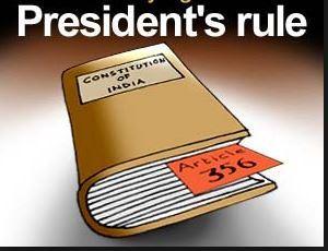PRESIDENT'S RULE