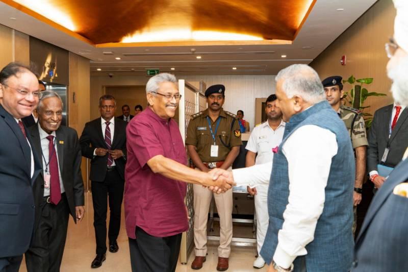 Rajapaksa, Visits India