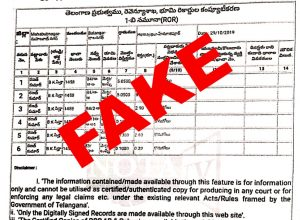 Fake : Claims made against Dr Rajat Kumar on receiving assets from Telangana Government