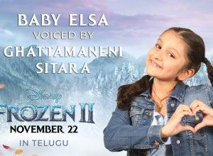 Mahesh Babu's daughter, Sita papa, dubs for Baby Elsa in Frozen 2