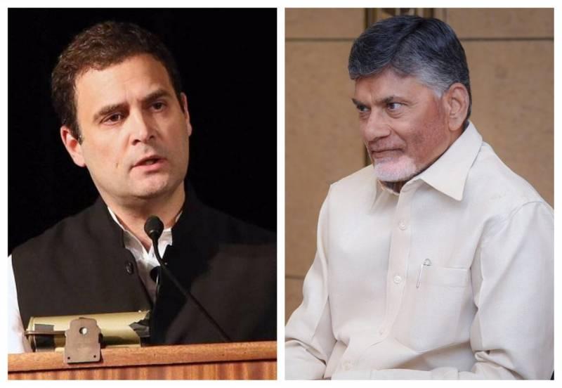 Rahul Gandhi, Chandrababu Naidu express shock, CM KCR yet to say a word