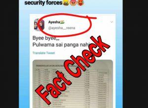 Fact Check: Did Aysha Renna tweet celebrating the Pulwama attack?