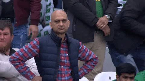 Disappointed Pakistani Cricket Fan At The World Cup