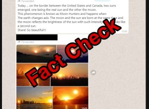 Fact Check: Pictures showing two suns in the sky are false