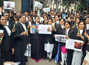 Justice for Disha: Lawyers at HC hold a protest meet