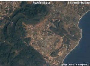 Satellite images show rapid urbanization at Vizag's Rushikonda beach