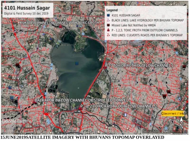 Satellite Image Hussain Sagar 1