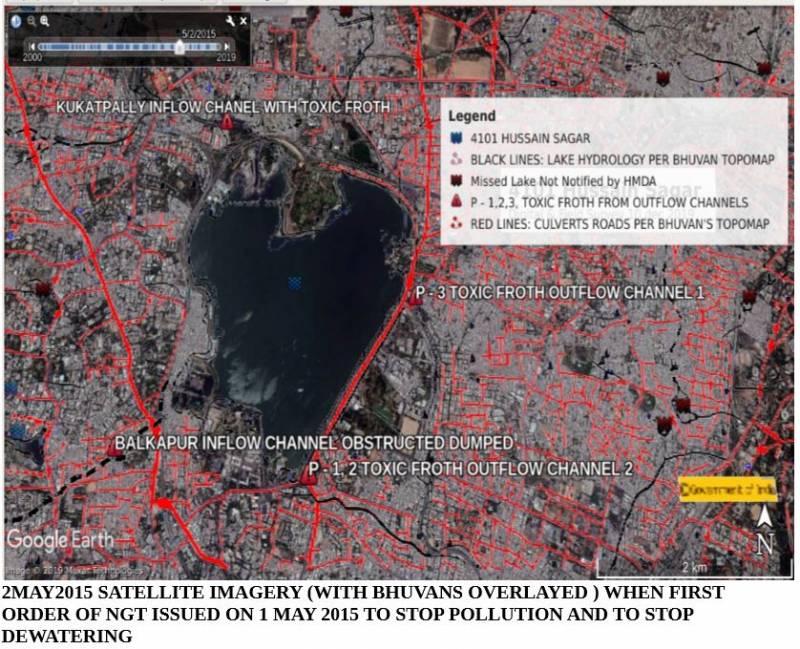 Satellite Image Of Hussain Sagar 2