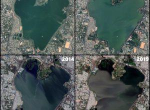 Hussain Sagar Lake is shrinking at an alarming rate, reveals satellite data