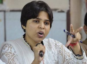 Activist Trupti desai detained for protesting near Telangana CM's house