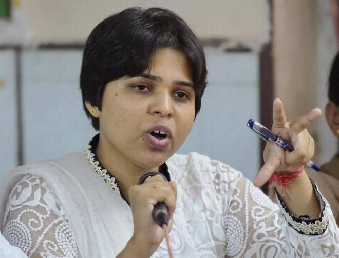 Activist Trupti desai detained for protesting near Telangana CM's house