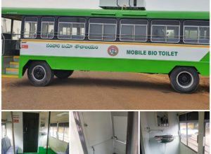 Scrapped buses turn bio-toilets to relieve TSRTC employees at the end of their shifts
