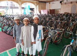 Prayers answered: 200 children gifted bicycles for being regular to namaz-e-Fajr