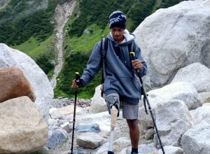 Meet the world's youngest above-knee amputee who conquered Mt Bhagirathi II