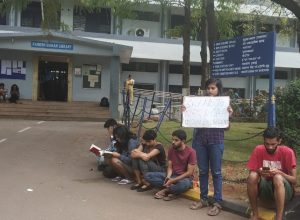An EFLU student's lone protest against Citizenship Amendment Act (CAA)