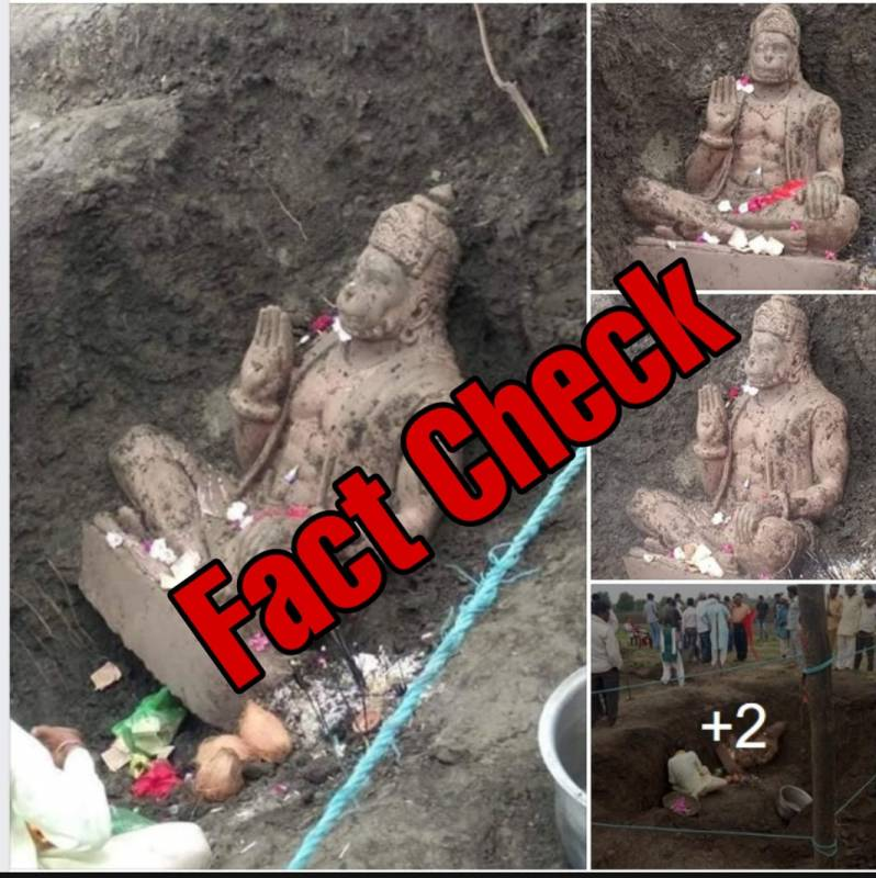 Fact Check: Was a Hanuman idol excavated from land allocated to Babri Masjid in Ayodhya?