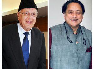 'We are not criminals,' Srinagar MP Farooq Abdullah writes to Tharoor