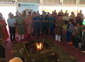 A prayer to return to the valley: Kashmiri pandits conduct hawan