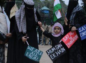 Hyderabadi women protest along with kids to revoke CAA