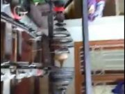 Karimnagar man innovates electric coconut de-husking machine
