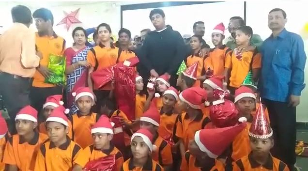 KTR son Himanshu celebrates Christmas in Saidabad Juvenile Home