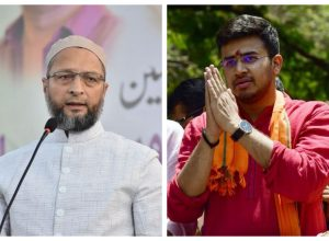 BJP's tyres will also be punctured soon: Owaisi on Tejaswi's jibe