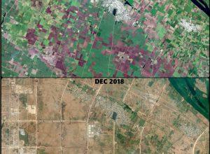 Satellite images show lush green Amaravati turn barren in 4 years