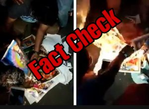 Fact Check: Videos of Hindu God pictures burnt during CAA protests is fake