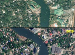 Satellite view: High rise buildings reduced to dust in Kochi
