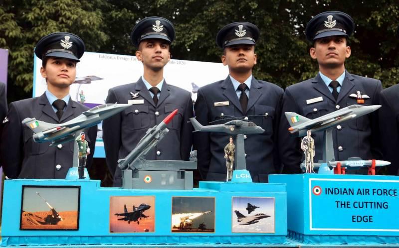 IAF displays model of tableau for Republic Day 2020