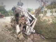 One killed, two critical as car rams into truck at Shamshabad