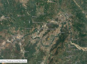 Satellite image shows earthquake hit Raghunathapalem village of Suryapet