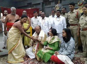 Telangana Chief Secretary Somesh Kumar visits Tirupati