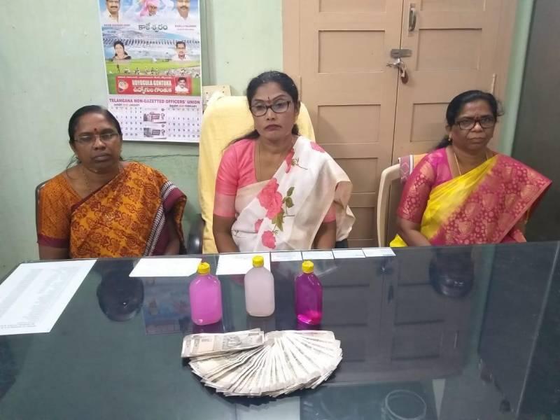 Warangal Nursing school Incharge principal caught red-handed accepting bribe