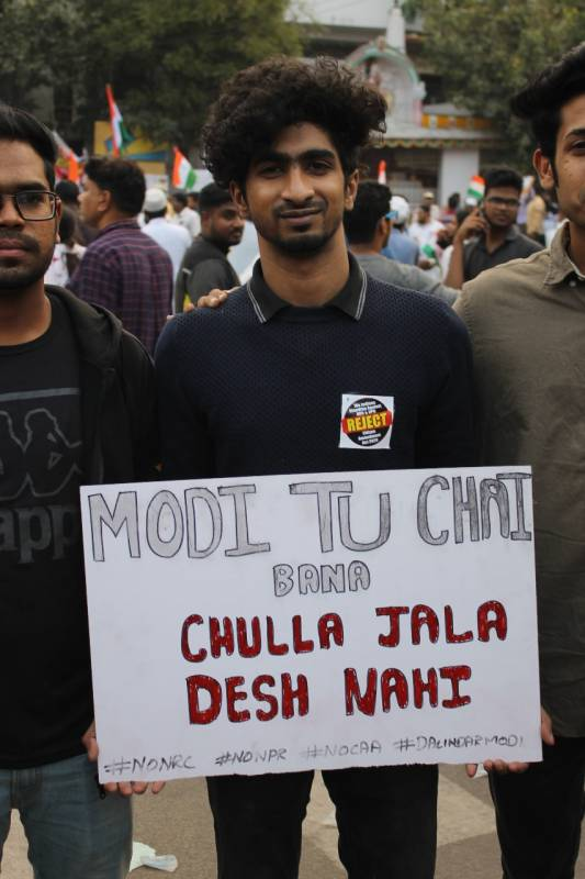 Hyderabad Million march slogans chai wala modi