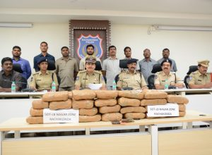 Rachakonda Police nabs three inter-state drug dealers, seize 51 kg of ganja