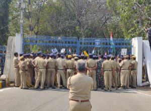 Police book 22 students from HCU for taking out Republic Day rally