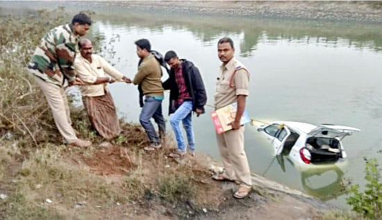 Coramandel Fertilizers managers die as car plunges into Vamsadhara River