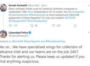 User claims jihadis active in Hyderabad, cops respond on Twitter