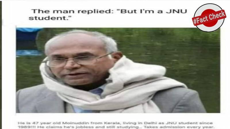 Fact Check: Kancha Ilaiah's image wrongly circulated as 47-year-old JNU student