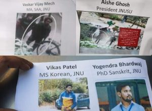 JNUSU prez Aishe, others accused; DP clueless on masked goons