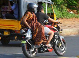 Women pillion riders wear helmets, avoid dupattas: Cyberabad cops