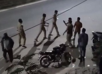 Four cops attached to district headquarters for thrashing youth in Rajanna Sircilla