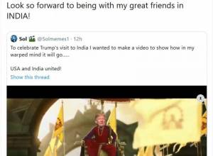Trump shares a video of him as Baahubali