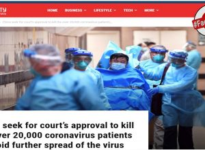 Fact Check: Is China trying to kill 20,000 people affected with Corona virus?