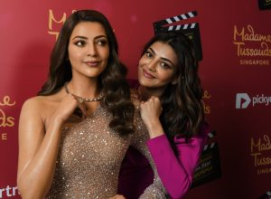 Kajal Aggarwal unveils her wax statue at Madame Tussauds in Singapore