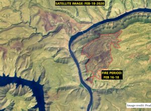 Satellite captures forest fire in Nallamala; officials clueless