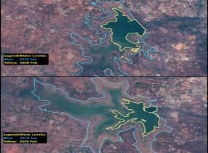 Satellite images of Osmansagar, Himayatsagar show summer will be harder in Hyderabad